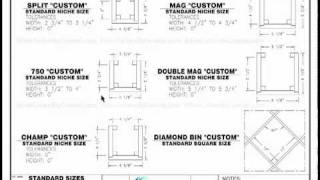 Custom Wine Cellars Wine Rack Opening Sizes - Wine Cellar Builders