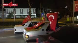 Kahramanmaraş'ta 300 araçlık konvoy ile şehidi karşılamaya geldiler!