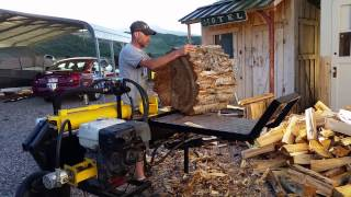 Homemade Log Splitter With New Log Lift