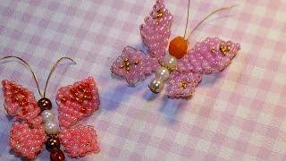 Мастер-класс Бабочка из бисера / beaded butterfly