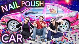 Painting a Car With NAIL POLISH ft. Threadbanger by : Simply Nailogical
