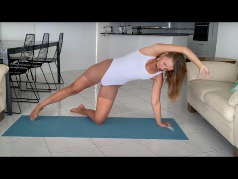 Pantyhose Yoga Art