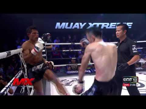 ย้อนหลัง เด่น ศศิประภายิม vs ชินโนซูเกะ นากามูระ : Mx Muay Xtreme Highlight ยกที่ 3 : 18 ส.ค. 60