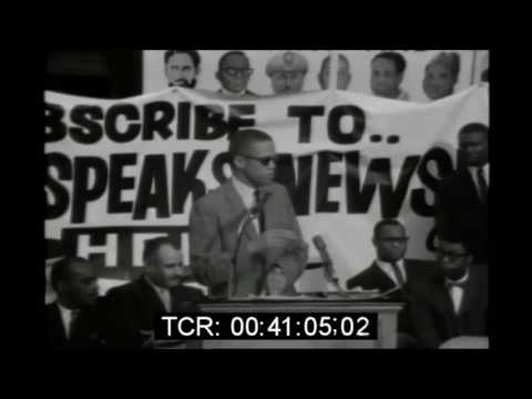 Malcolm X Gives POWERFUL Speech In Harlem