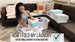 SATISFYING LAUNDRY FOLDING MOTIVATION // HOW I FOLD MY LAUNDRY // Jessica Tull