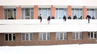 Паркур зимой. Тренировка в Чебоксарах