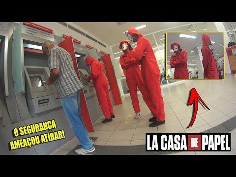 """ENTREI NO BANCO VESTIDO DE """"LA CASA DE PAPEL"""""""