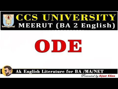 what is ode? | explain in hindi and English