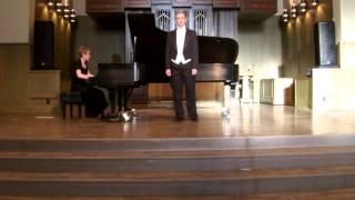 "Kindertotenlieder 5  ""In Diesem Wetter"" sung by countertenor Brandon Reece"