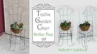 Dollar Tree Trellis Garden Chair DIY / Garden DIY / Patio Decor DIY
