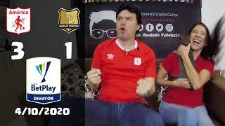 Reacciones America de Cali 3 vs Aguilas Doradas 1 | Liga Betplay 2020