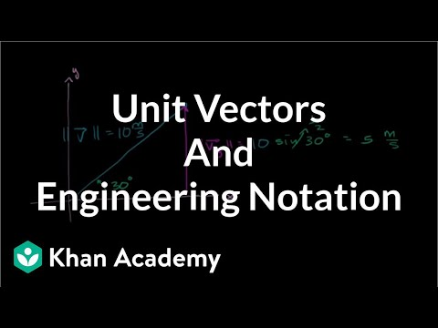 Unit vectors and engineering notation | Two-dimensional motion | Physics | Khan Academy