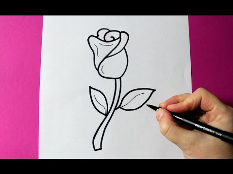 How To Draw A Rose Super Easy Rose To Draw Youtube