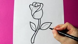 HOW TO DRAW A ROSE - SUPER EASY ROSE TO DRAW