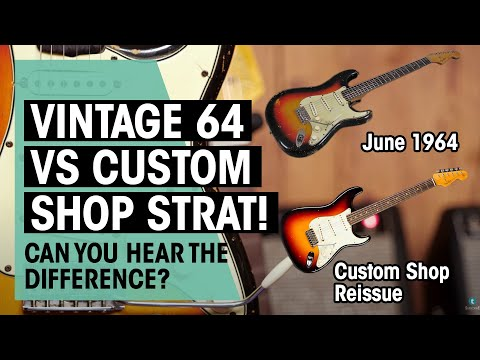 Can you hear a difference? | Original Fender '64 Stratocaster vs. Custom Shop Reissue | Thomann