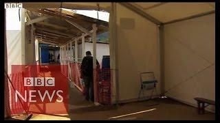 Inside a new Ebola treatment centre in Sierra Leone - BBC News