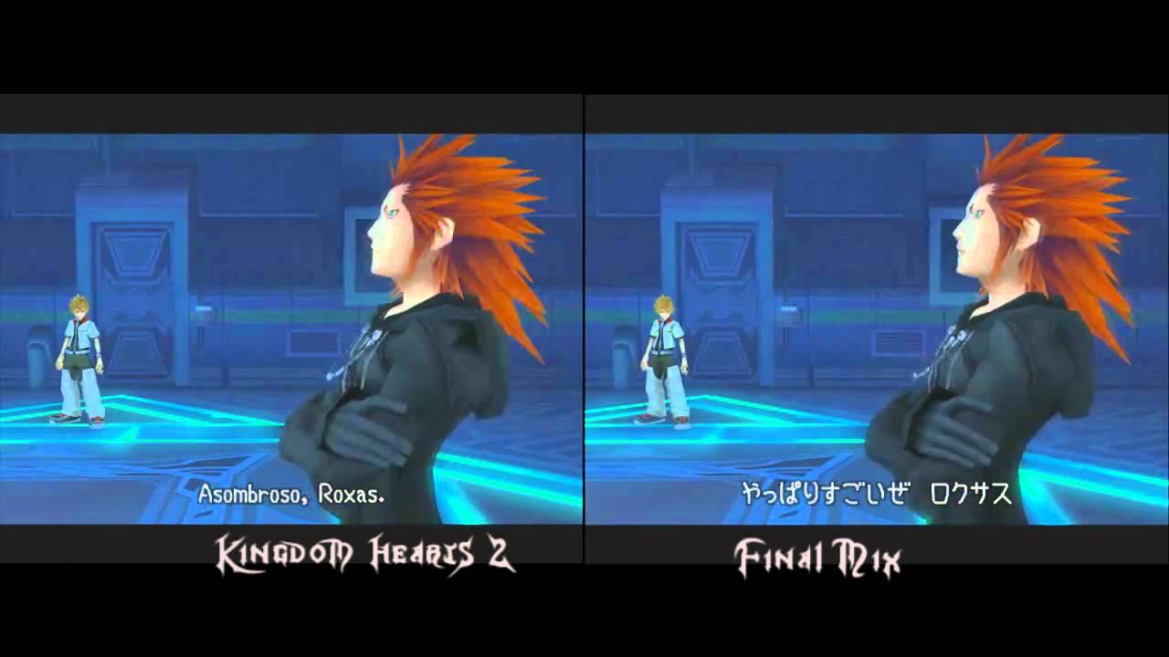 Kingdom Hearts 2 And Final Mix Comparison Youtube