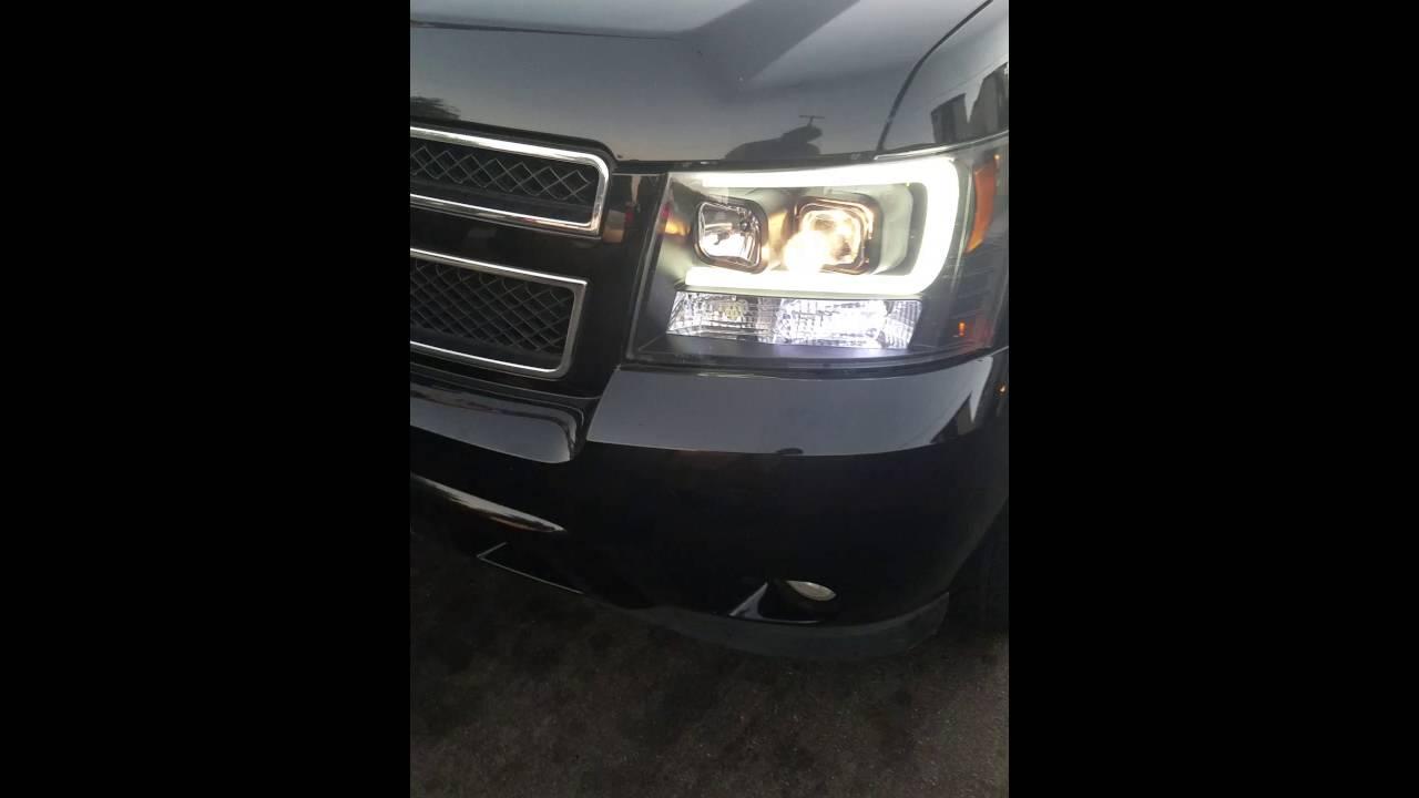 Chevrolet Avalanche 2016 >> 2010 Tahoe halo headlights - YouTube