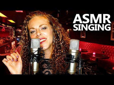 ♪ Relaxing ASMR Singing ♪ Ear to Ear Lullaby, Slow Hand Movements for Sleep, Gentle Binaural Jazz