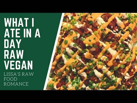 WHAT I ATE IN A DAY || TACO SALAD || VEGAN RAW FOOD