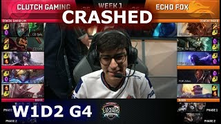 Video [CRASHED] Clutch Gaming vs Echo Fox | Week 1 Day 2 S8 NA LCS Summer 2018 | CG vs FOX W1D2 download MP3, 3GP, MP4, WEBM, AVI, FLV Agustus 2018