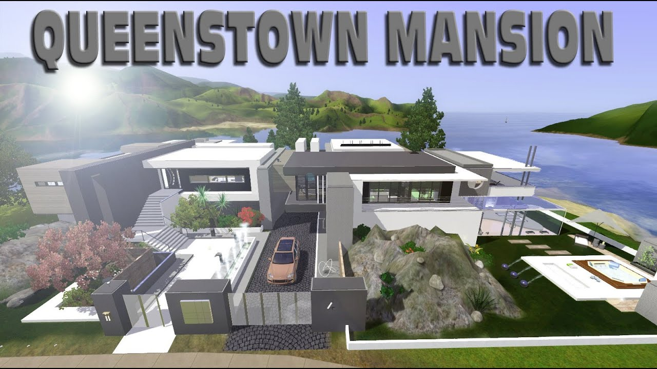 Sims 3 modern celebrity house youtube - The Sims 3 Queenstown Luxury Mansion Youtube