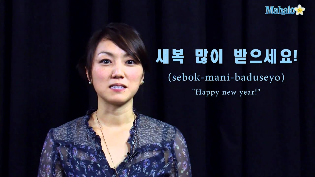 how to say happy new year in korean youtube
