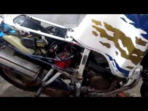Первый запуск после ремонта двигателя   Honda Africa Tvin 750