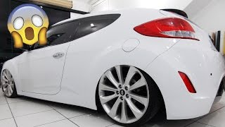 Veloster Aro 20 Suspen o a Ar Envelopado Premium Branco Brilho HMD Car