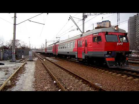 Электропоезд ЭД2Т-0035 (ТЧ-3) пригородный поезд № 6068/6067, Щербинка - Одинцово.