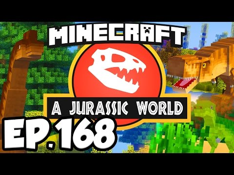Jurassic World: Minecraft Modded Survival Ep.168 - DINOSAURS MUSEUM ENTRANCE!!! (Dinosaurs Mods)