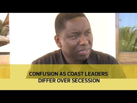 Confusion as coast leaders differ over secession