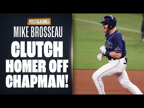 Mike Brosseau fights off Aroldis Chapman in 10-pitch AB, CRANKS home run to give Rays lead!