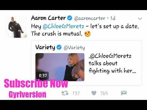 Aaron Carter and Chloe Grace Moretz link up