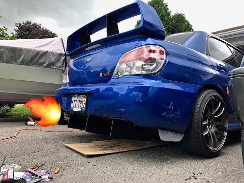 @Con10der8 Subaru STI rear diffuser install DIY Style | VLOG