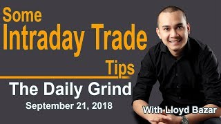 How to INTRADAY TRADE| ABG MRC and IRC |The Daily Grind | September 21, 2018