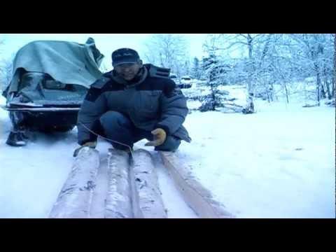 Alaska Native Snow Shoe make frame