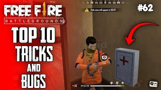 Top 10 New Tricks In Free Fire | New Bug/Glitches In Garena Free Fire #62