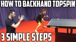 How To Backhand Topspin Against Backspin | Table Tennis