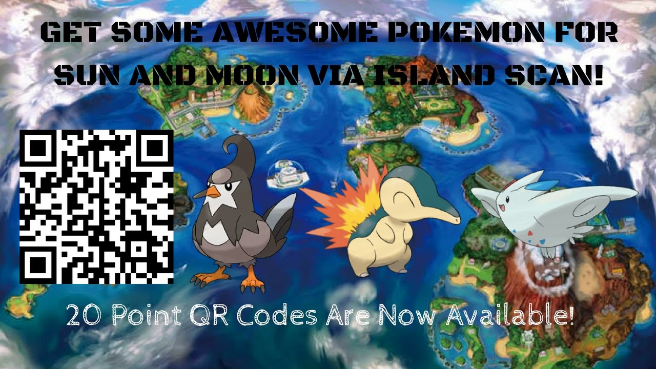 20 Point QR Codes are Now Available for Pokémon Sun and Moon!