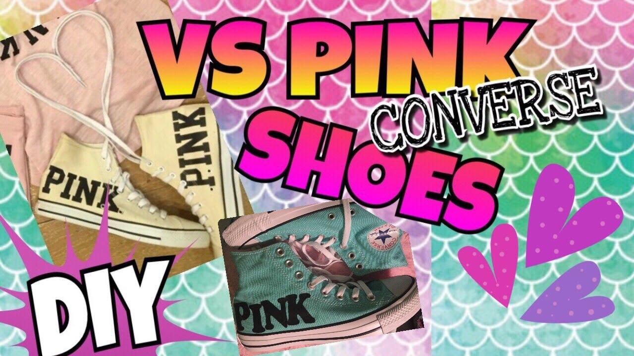 5288ec23aa8ce VICTORIA'S SECRET PINK DIY | VICTORIA'S SECRET PINK CONVERSE SHOES