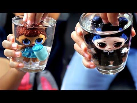 Hadiah Naik Kelas 4  Boneka LOL ASli - Confetti Pop Gliter Series - Miss Baby,Dusk