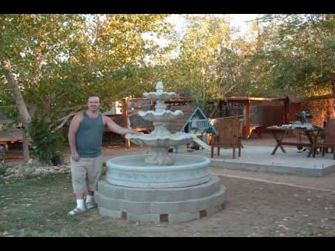Water Fountain 3 Tier Project Install Youtube