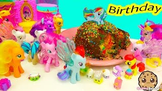 MLP Surprise Birthday Party for My Little Pony Rainbow Dash - Cookieswirlc Video