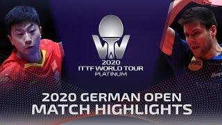 Ma Long vs Dimitrij Ovtcharov | 2020 ITTF German Open Highlights (1/2)