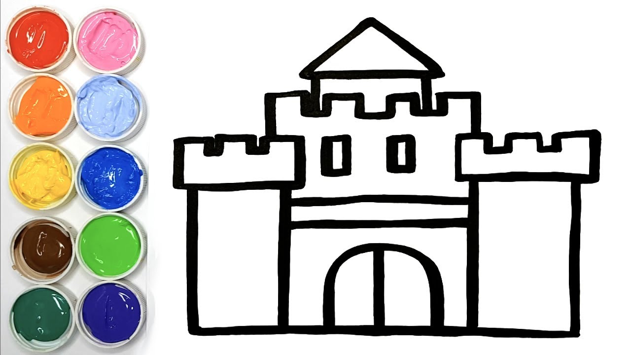 Comment Dessiner Un Chateau Fort Youtube