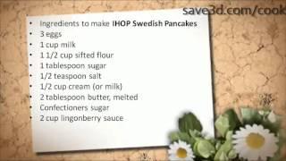 Secret Recipe - How To Make Ihop Swedish Pancakes (copycat Recipes)