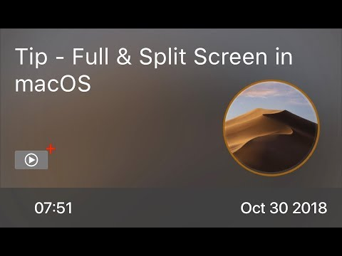 SCOM0782 - Tip - Full & Split Screen In MacOS