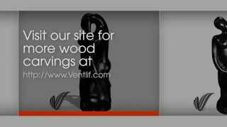 Abstract Kissing Couple Home Decor Philippine Wood Carving