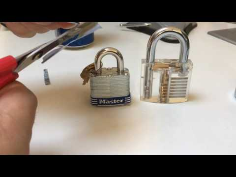 (013) How to Shim Open Padlocks - soda can shims